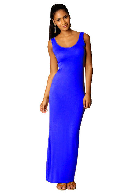 Women Sleeveless Casual Maxi Dress