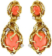 Vintage Coral Tree Style Earrings