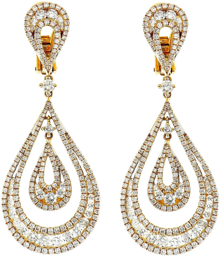 Rose Gold & Diamond Chandelier Earrings