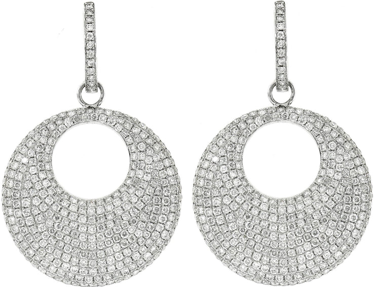 White Gold Diamond Pavé Earrings