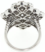 White Gold & Diamond Baroque Style Cocktail Ring