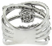 Abstract White Gold & Diamond Fashion RIng