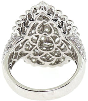 White Gold & Diamond Pear Shaped Illusion Set Cocktail Ring