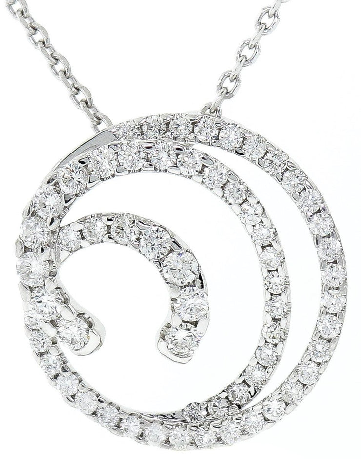 1.20ct White Gold & Diamond Round Modern Pendant