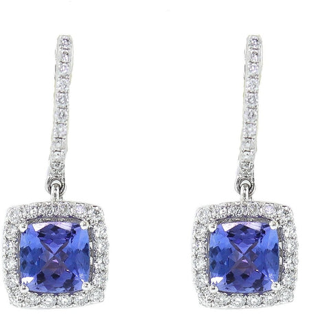 White Gold & Tanzanite Earrings