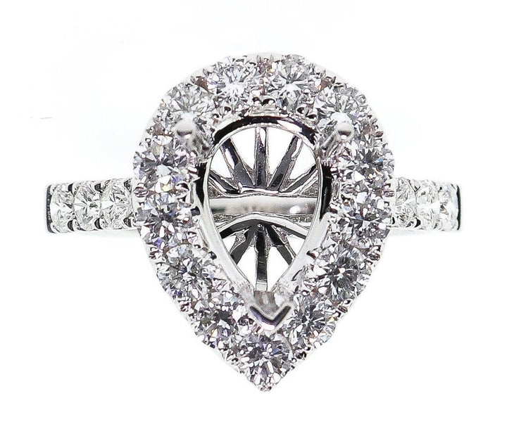 1.70ct 18k Pear Shaped Diamond Setting