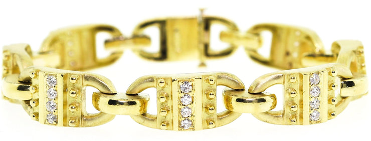 18k Yellow Gold & Diamond Bracelet