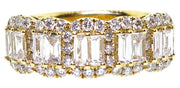 1.50ct  Round & Baguette Diamond 18k Band