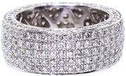 18k White Gold Pave Eternity Band