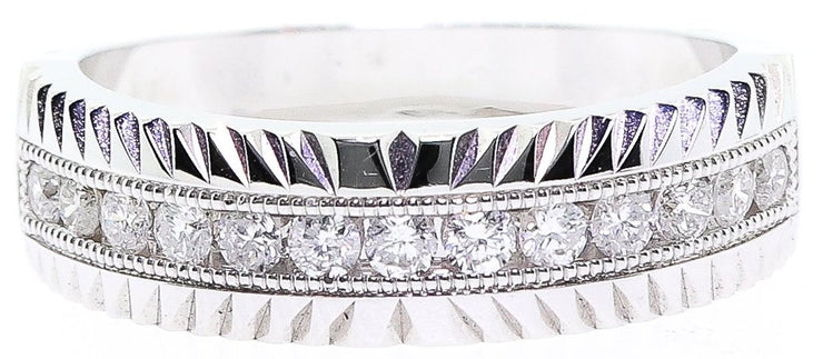 .50ct 14k White Gold Men's Wedding Band