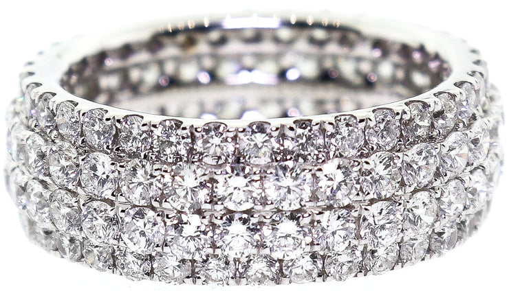 5.00ct 18k Pave Eternity Band