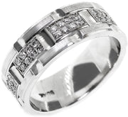 1.00ct 14k Men's Wedding Band