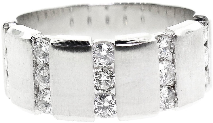 1.00ct Men's Brushed Wedding Band