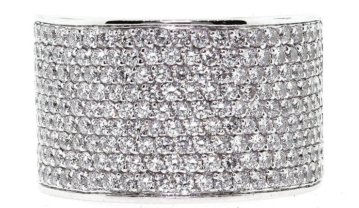 2.25ct 18k White Gold Pave Cocktail Ring
