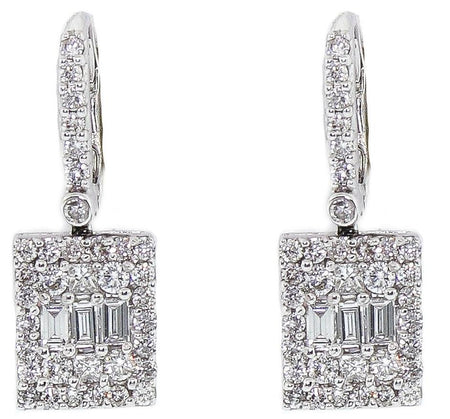 1.40ct Illusion Earrings