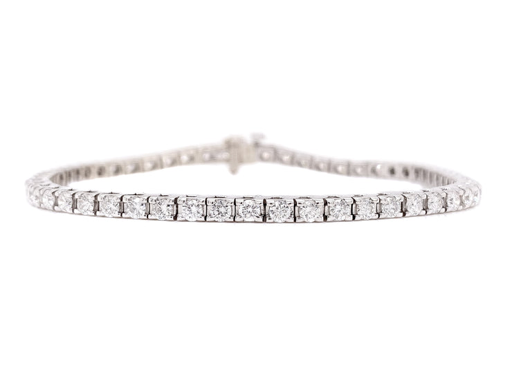 14k White Gold 3.10ct tennis bracelet