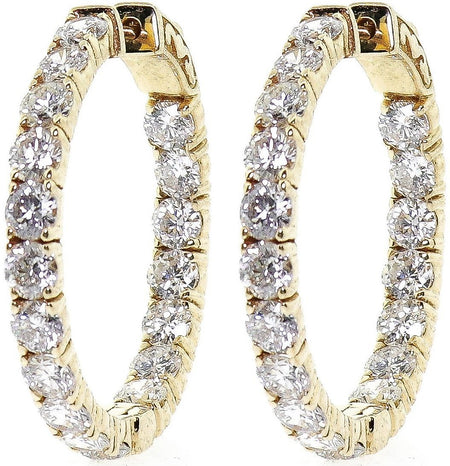 6.80ct Hoop Earrings