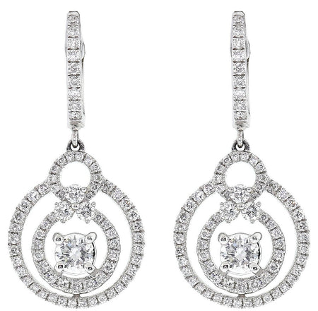 1.95ct 18k White Gold Earrings