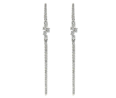 1.00ct 18k White Gold Modern Style Earrings