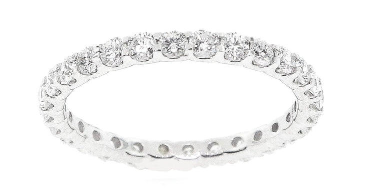 1.00ct 14k White Gold Eternity Band