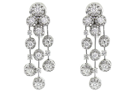 18k 4.50ct STAURINO FRATELLI Chandelier Earrings