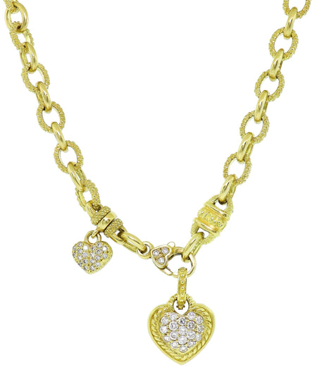 Judith Ripka 18k Heart Pendant Necklace