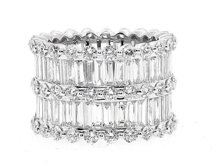 9.50ct 18k White Gold Baguette & Round Eternity Band