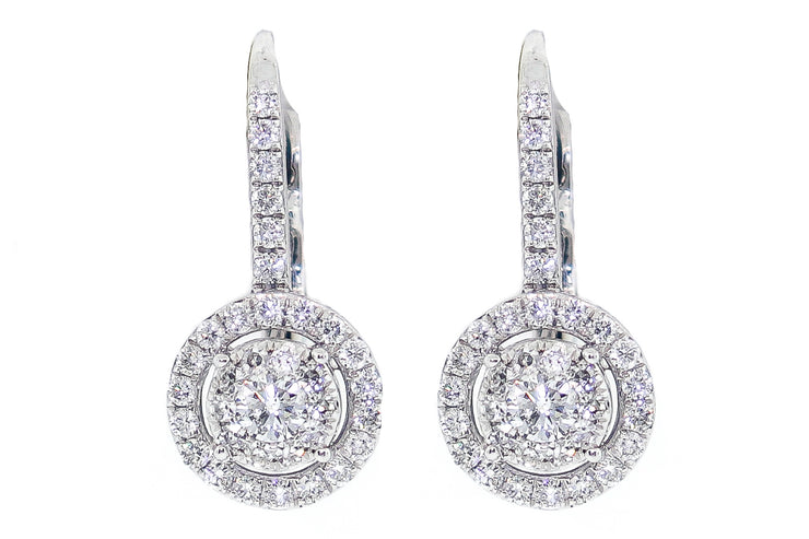 14k 1.60ct White Gold Earrings