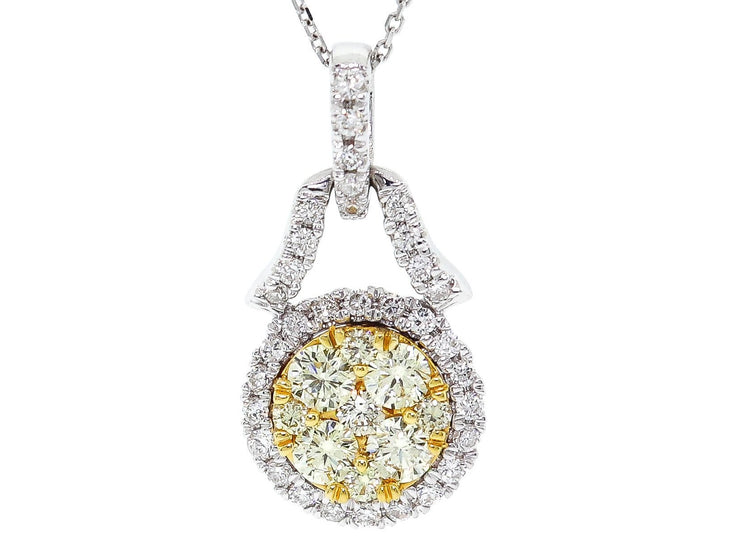 .80ct Two Tone Diamond Pendant