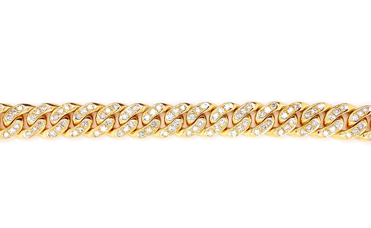 4.25ct 18k Yellow Gold Cuban link bracelet
