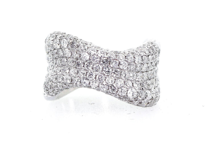 2.50ct 14k White Gold Pave Band