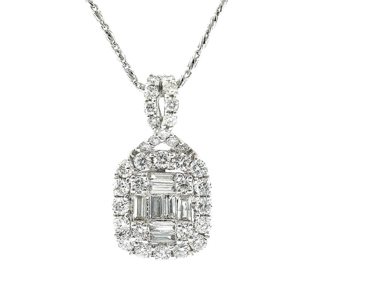 18k White Gold 1.20ct Diamond Pendant