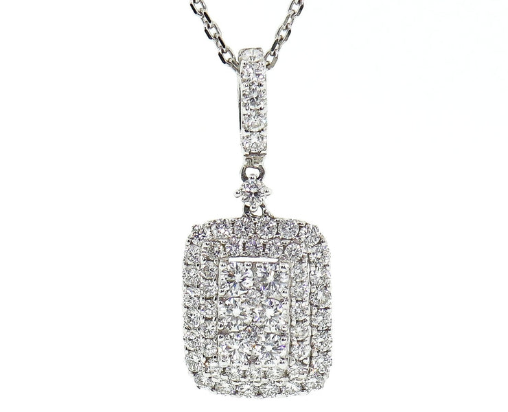 1.85ct 18k White Gold Pendant