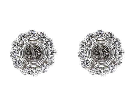 14k White Gold 2.00ct Jackets