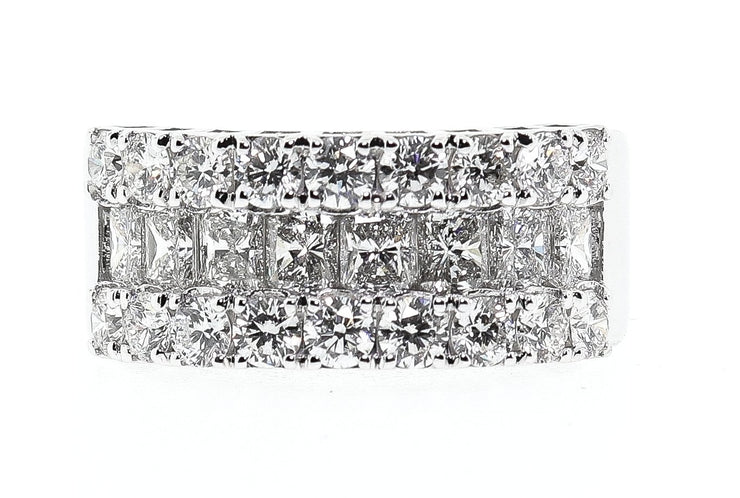 18k 4.00ct White Gold Band