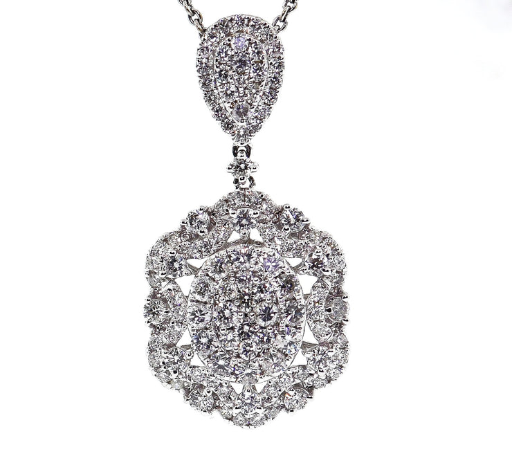 18k 2.75ct White Gold Pendant