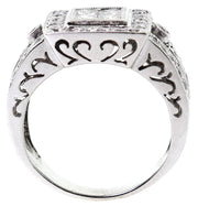18k White Gold 1.00ct T.W. Illusion Center Cocktail Ring