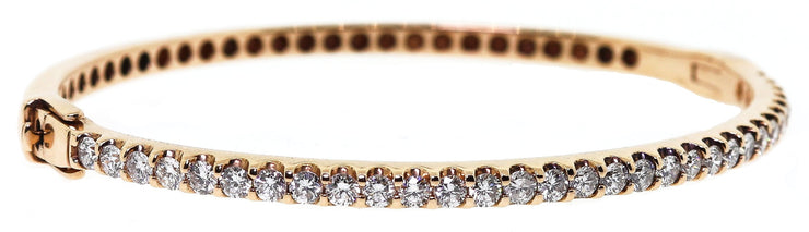 14K Rose Gold Bangle with 2.00ct Diamonds