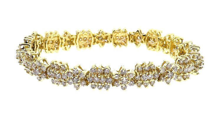 14k Yellow Gold Art Deco style 6.40ct Bracelet