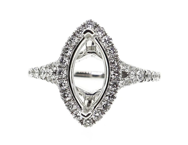 18k White Gold 1.00ct Marquise Setting