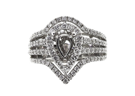 1.50ct 18k White Gold pear shaped Setting