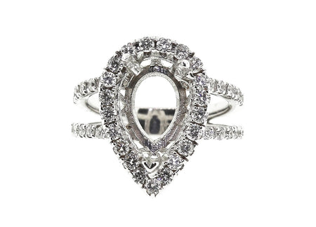.90ct 18k White Gold pear shaped Setting