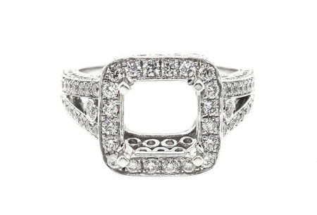 18k White Gold 2.00ct setting