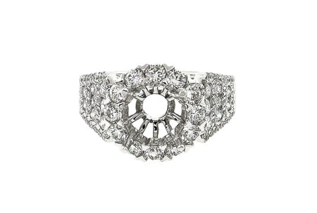 18k White Gold round setting with 2.00ct if Diamonds