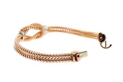 14k Rose Gold flexible bracelet with .45ct of Diamonds