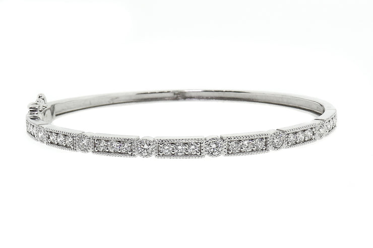 2.00ct 14k White Gold bangle
