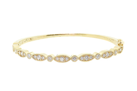 1.65ct 14k Yellow Gold bangle