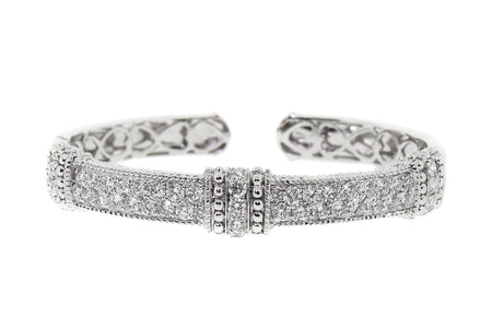 14k White gold 4.25ct diamond classic style bangle