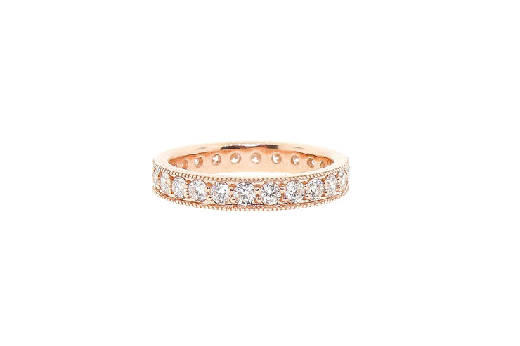 .65ct 14k Rose Gold eternity band