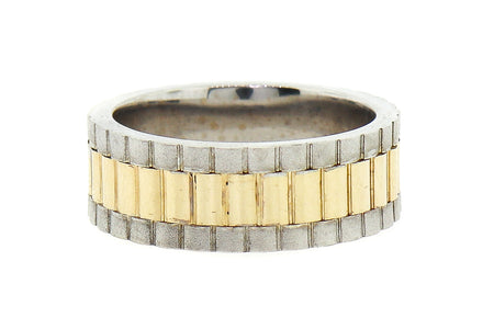 14K Two tone 12.3gram link style man's wedding band